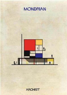 mondrian house by Federico Babina