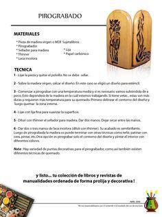 2006/04 - Consejo del Mes - Abril 2006 - Pirograbado