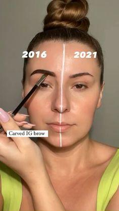 Contour Makeup, Eyebrow Makeup, Skin Makeup, Makeup Art, Makeup Brushes, Makeup Tips, Makeup Ideas, Makeup Style, Creative Eye Makeup