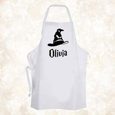 £5.99 GBP - Personalised Harry Potter Sorting Hat Chef Baking Cooking Apron Birthday Gift #ebay #Home & Garden