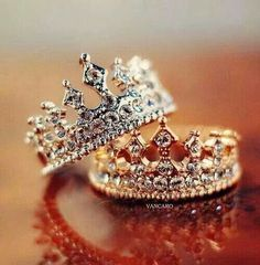 King Queen Ring Crown Ring Setgold Crown By Uniquenewline