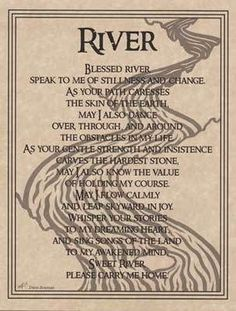RIVER WATER PRAYER POSTER  A4 SIZE Wicca Pagan Witch Witchcraft BOOK OF SHADOWS picclick.com