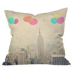 DENY Designs Balloons Over The City Throw Pillow