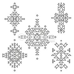 Clipart vectoriel : Vector collection d'éléments de Tribal