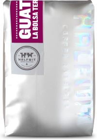 Halfwit Coffee - origin label on shiny silver bag with holographic logo!