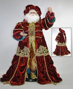 """Katherine's Collection 32"""" Nativity Christmas Santa Claus Doll New In Box"""