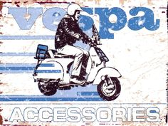 VESPA SCOOTER METAL SIGN RETRO VINTAGE STYLE LARGE 12X16 in