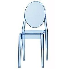 Kartell Victoria Ghost Dining Chair Trans Ice Blue Philippe Starck rrp £160 Sale   eBay