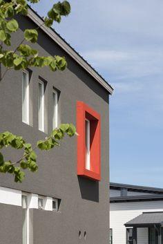 Lammi-Kivitalo Villa Elpida on moderni, selkeälinjainen ja funktionaalinen. Lisää ideoita rakentamiseen www.lammi-kivitalot.fi