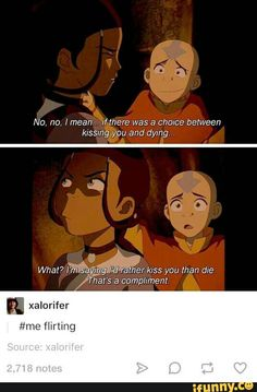 Men with words and the word kissing in the same sentence don't mix. Avatar The Last Airbender Funny, The Last Avatar, Avatar Funny, Avatar Airbender, Legend Of Korra, Atla Memes, Avatar Series, Iroh, Team Avatar