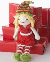 Sugar'n Cream - Lily the Christmas Elf (crochet)