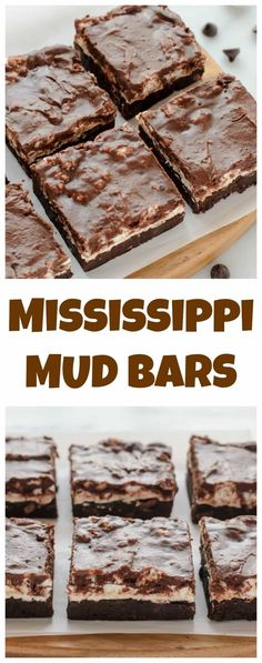 Mississippi Mud Bars. Marshmallow brownies covered in fudge!