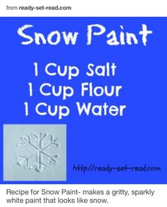 Snow Paint for snow globes!
