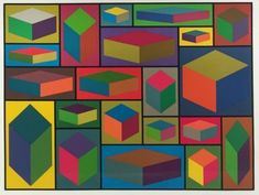 Distorted Cubes #2,SLE-33-1467645599-50 by Sol LeWitt