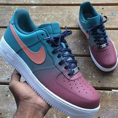 Nike AirForce 1 Low Costume Paintes By 🔥 New Nike Sneakers, Casual Sneakers, Sneakers Fashion, Fashion Shoes, Shoes Sneakers, Men's Shoes, Jordan Shoes Girls, Girls Shoes, Tenis Nike Casual
