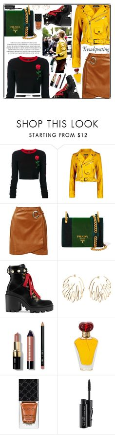 """""""FASHION BLOGGER"""" by blackcatme ❤ liked on Polyvore featuring County Of Milan, Boohoo, Sans Souci, Prada, Gucci, Valentino, Bobbi Brown Cosmetics, Borghese, MAC Cosmetics and everydayfashion"""