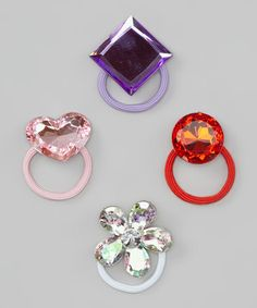 Take a look at this Gemstone Hair Tie Set by Chicky Chicky Bling Bling on #zulily today!