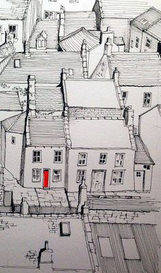 Staithes rooftops and one red door | Flickr - Photo Sharing!