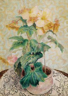 Begonias, Dora Carrington, 1927, oil on canvas.