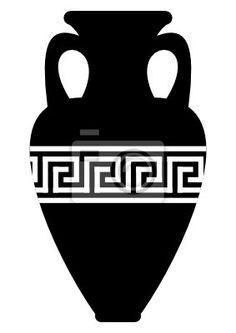 motif abstrait grec de méandre