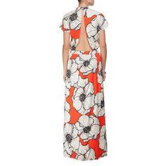 FARM - Vestido longo Farm floral Paula - laranja - OQVestir