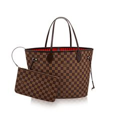 Neverfull MM +Damier Ebene Canvas - Handbags | LOUIS VUITTON