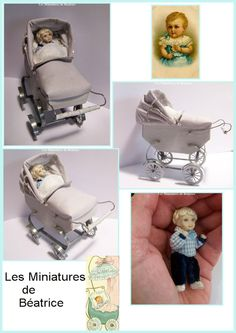 Handmade french pram.1:12th by Beatrice5804 on Etsy