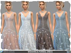 The Sims Resource: W&F Dress by Devilicious • Sims 4 Downloads