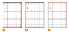 ...using the size of the paper as a guide we can divide using ratio to begin creating the grid.