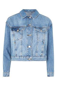 PETITE Boxy Cropped Denim jacket
