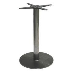 Modelo SLIM40 Altura: 107cm/ 72cm/ 46cm  Diámetro de base: 40cm   Tubo: 70mm Acabados Disponibles: Hierro pintado Maximo de sobre recomendado: Cuadrado 70x70cm/ Redondo 70cm