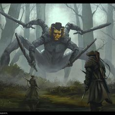 ArtStation - No man's land boss, Robert Ryminiecki High Fantasy, Dark Fantasy Art, Monster Design, Monster Art, Creature Concept Art, Creature Design, Fantasy Creatures, Mythical Creatures, Epic Art