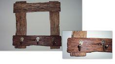 moldura com madeira de demolição - porta bolsas
