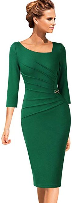 Beautiful Dresses, Nice Dresses, Dresses For Work, Dresses With Sleeves, Sunday Best Attire, Office Outfits, Stylish Outfits, Dress Outfits, Fashion Dresses