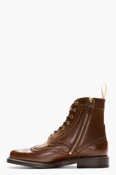 FOOT THE COACHER Brown Leather Brogue Boots