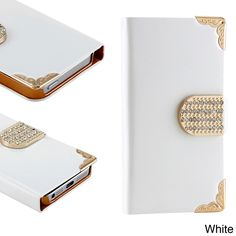 Gearonic Luxury Wallet PU Leather Case for Apple iPhone 5 #5381ALL