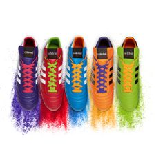 Introducing the Samba #CopaMundial. An #adidasFootball icon, now in five vibrant colours to celebrate a Brazilian #WorldCup year. #allin or nothing.