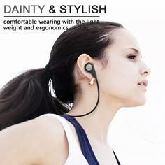 Bluetooth 4.0 Wireless Sports Headphones In-ear Running Stereo Earbuds Headsets with Mic for iPhone 6s PlusSamsung Galaxy S6