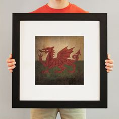 Wales Flag   Flags have been used for identity and heritage for centuries, and City Prints carries on the tradition with our flag series. Flags not only represent the country, state, or city – they represent every individual who calls it home. Rep your region with a fine art print from City Prints – truly the perfect personalized gift.