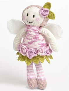 Create this adorable Rose Fairy Doll knitted in the luxuriously smooth, Patons Smoothie DK!