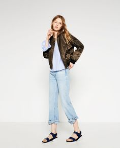 QUILTED BOMBER JACKET-OUTERWEAR-WOMAN | ZARA United Kingdom