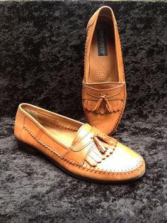 Giorgio Brutini Le Glove Tan Leather Tassel Slip On Loafers Sz. 10 EEE #GiorgioBrutini #LoafersSlipOns