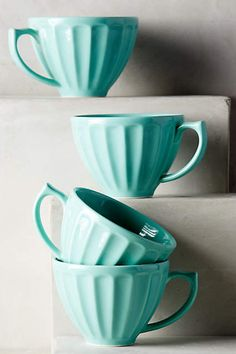We can't get enough of these Anthro latte mugs. All the colors, please.