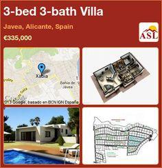 3-bed 3-bath Villa in Javea, Alicante, Spain ►€335,000 #PropertyForSaleInSpain