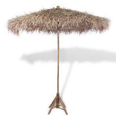 Bamboo Sun Umbrella Banana Leaf Roof Stylish Garden Beach Shade Patio Parasol for sale online Grand Parasol, Sun Umbrella, Outdoor Umbrella, Beach Umbrella, Pergola Plans, Diy Pergola, Pergola Kits, Gardens, Backyard Farming