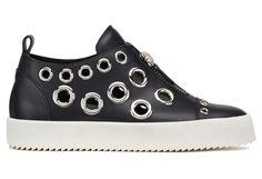 Giuseppe Zanotti Slip Ons - FRANZ - Women's Black Sneakers