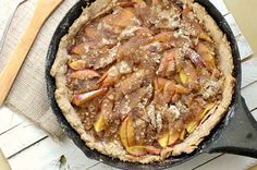 One skillet peach cobbler! Make with any fresh, juicy fruit you have on hand. Quick & Easy Delicious Cobbler