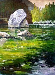 Plein Air Painting Demo in Acrylics by Donald Neff