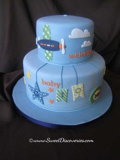 Find and save ideas about Airplane Baby Shower Cakes on Party XYZ, the world's catalog of invitation ideas. Airplane Baby Shower Cake, Baby Shower Cakes, Baby Boy Shower, Baby Boy Cakes, Cakes For Boys, Baby Shower Decorations For Boys, Cake Gallery, Baby Sprinkle, Occasion Cakes