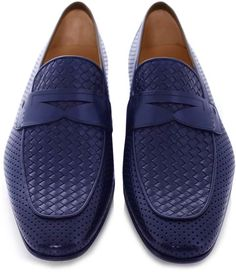 MAGNANNI Woven Leather Loafers £309.99